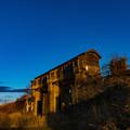 写真: ー黄昏の岩保木水門ー