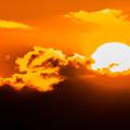 写真: ー燃える太陽ー