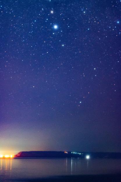 ー街灯りと星景ー