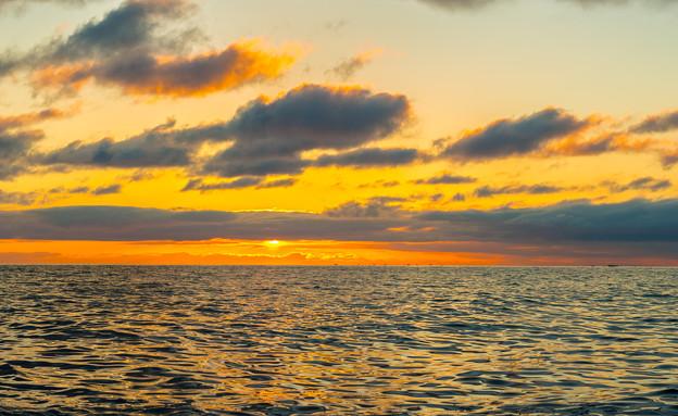 ー野付水道の夜明けー