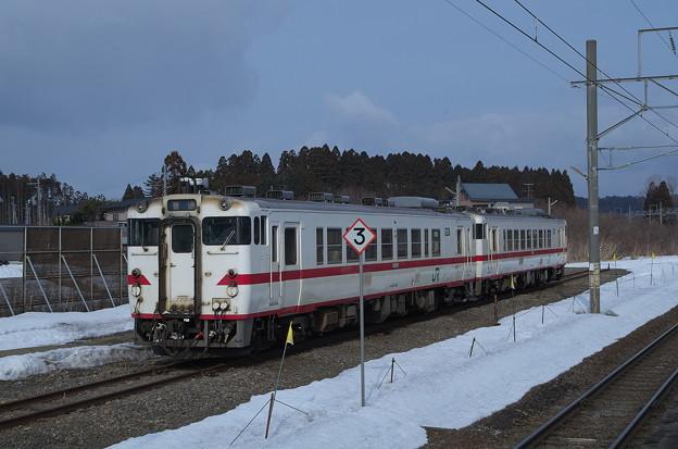 津軽線 蟹田駅 キハ40 2両