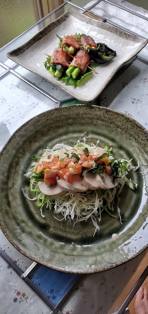 Photos: 鶏胸肉のハムサラダ