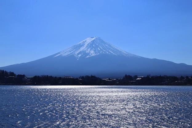 逆光富士山(河口湖にて)