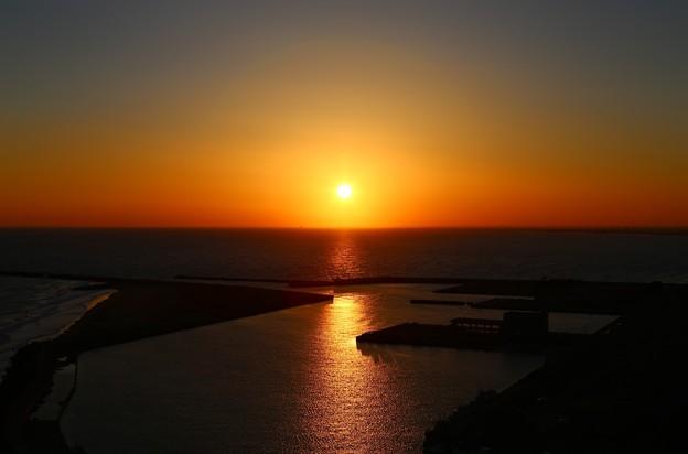 飯岡刑部岬の夕日