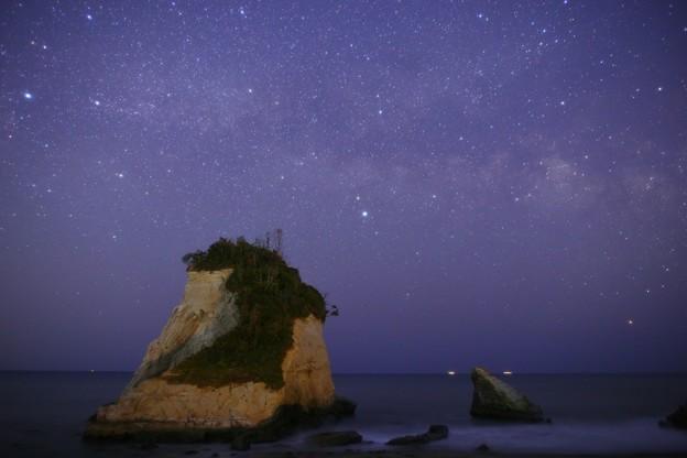 千葉・雀島(夫婦岩)にて