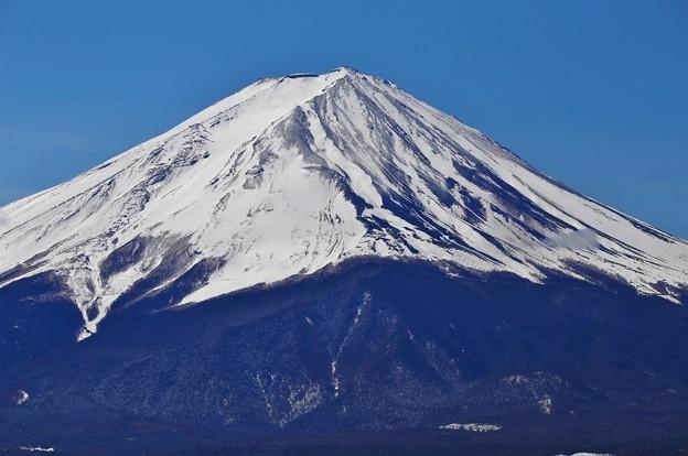 河口湖からの富士山(山頂付近ズーム)