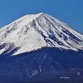 Photos: 河口湖からの富士山(山頂付近ズーム)