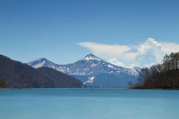 Photos: 福島 桧原湖と磐梯山(長秒露光バージョン)