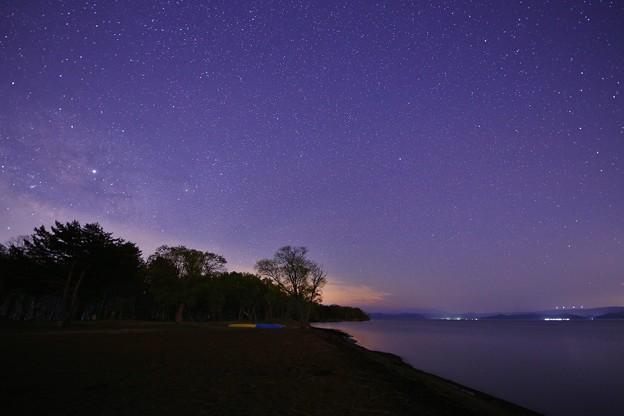 福島 猪苗代湖・天神浜の星空
