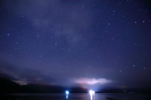 裏磐梯 桧原湖の星空