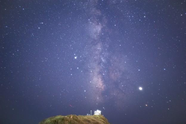 野島崎灯台の天の川