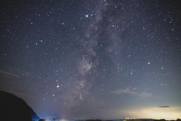 猪苗代湖付近の天の川