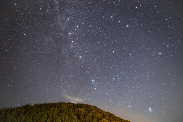 猪苗代湖付近の星空