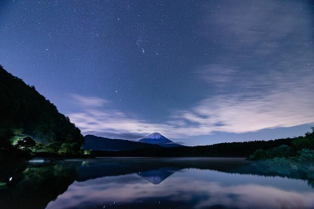 逆さ富士と星空 その1
