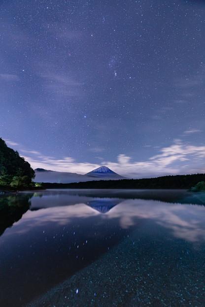 逆さ富士と星空 その2