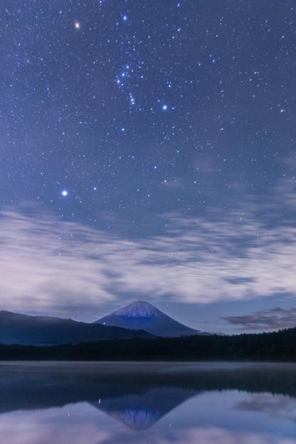 逆さ富士と星空 その3