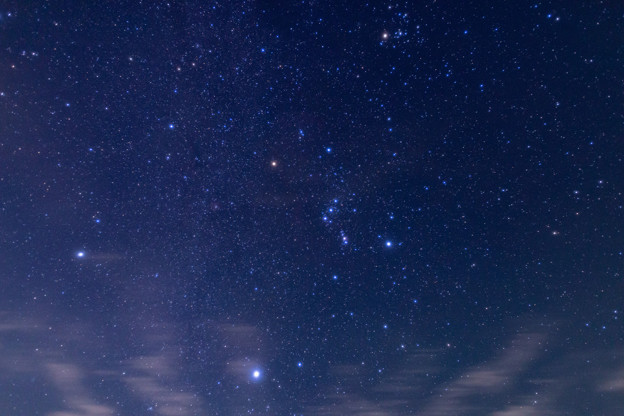 オリオン座と冬の大三角