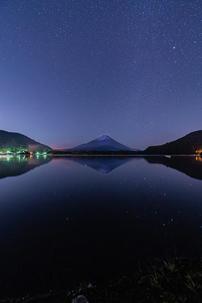 富士山と星空 精進湖にて その2