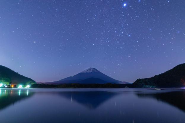 富士山と星空 精進湖にて その3