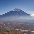 鳴沢村 紅葉台より望む富士山 その2