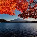 河口湖にて 紅葉と富士山その1