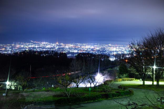 笛吹川フルーツ公園の夜景 その1