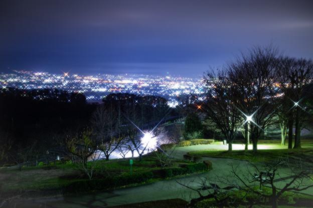 笛吹川フルーツ公園の夜景 その2