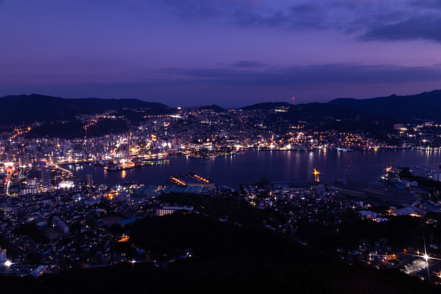 長崎・稲佐山展望台からの夜景 その1