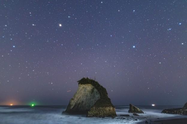 夫婦岩の星空
