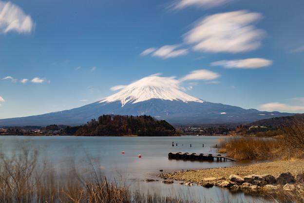 河口湖・大石公園より望む富士山(3/6)