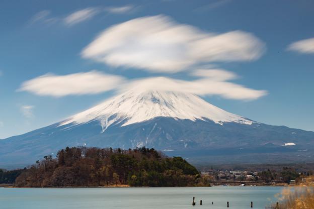 河口湖・大石公園より望む富士山(4/6)