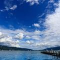 諏訪湖湖畔