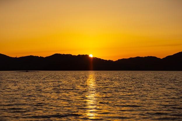 桧原湖の夕景 その1