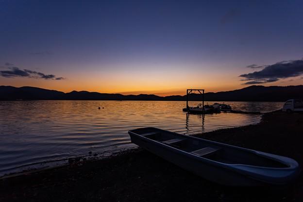 桧原湖の夕景 その2