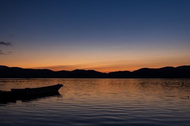 桧原湖の夕景 その3