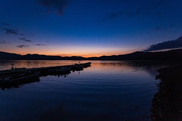 桧原湖の夕景 その4