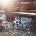 Photos: 露天風呂の湯気が暖かい