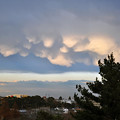 雲三態 1)「乳房雲」