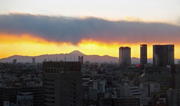 富士と雲の語らい