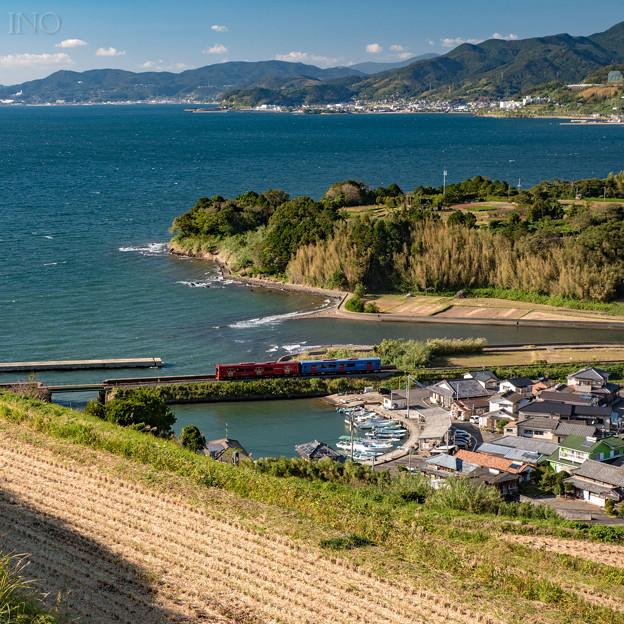 棚田と漁村