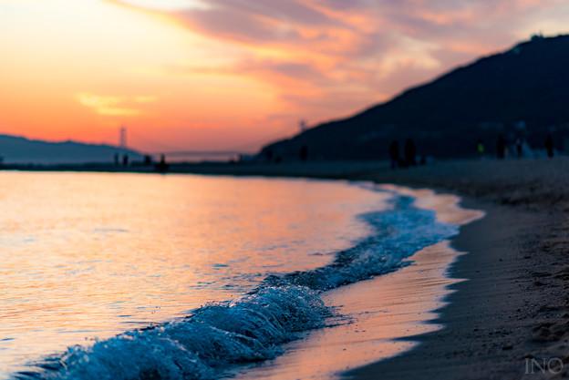 晩秋の海水浴場