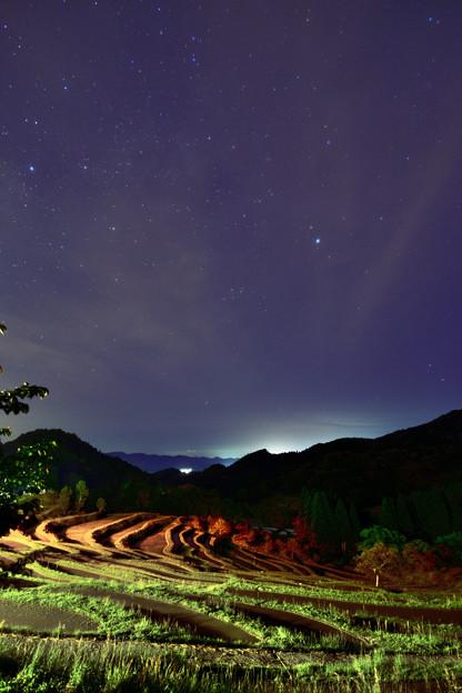 棚田の夜空