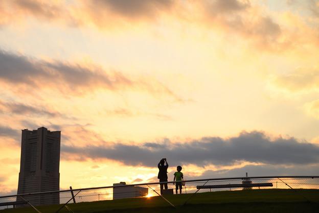夕空とパパと僕と