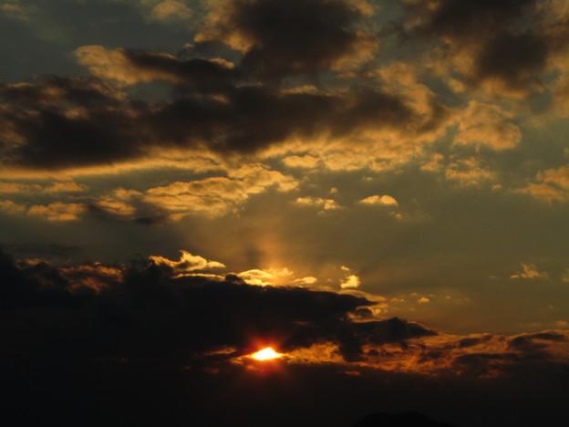 正月二日の夕日