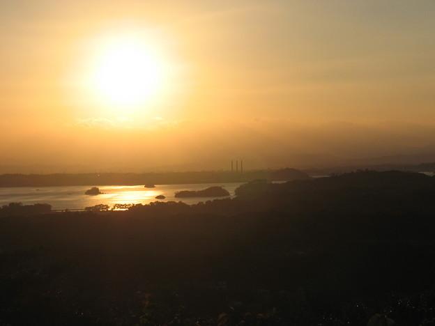 松島の夕日。