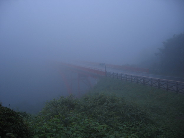 霧の東沢大橋