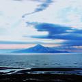 写真: 海上の利尻島_2