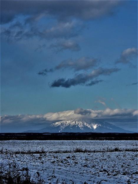 雪の利尻富士_0