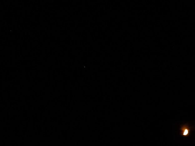 土星、木星、月