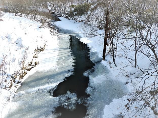 結氷のエベコロベツ川